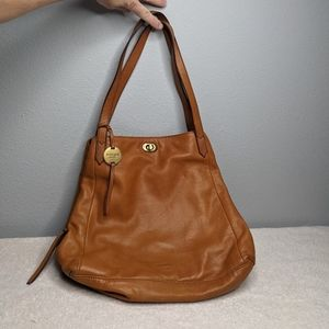 Margot New York Leather Marcy Tote Shoulder Bag